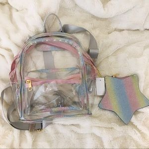 Sparkle Star Clear Backpack Duo 💖
